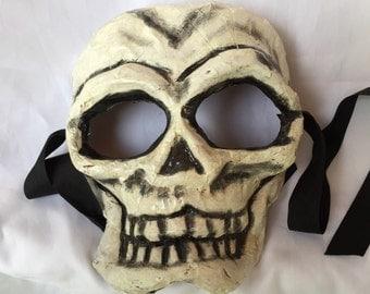 Skull paper mache mask
