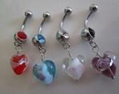 Dangle Heart Belly Jewelry