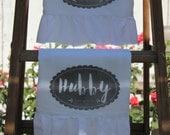 Wedding, Shabby Chic, Cottage, Farmhouse, Flour Sack, Tea Towel (Ruffled SET W&H)