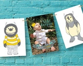 Rectangle Photo Party Banner, Where The Wild Things Are Party, Baby Shower Decorations, Birthday Party Decorations