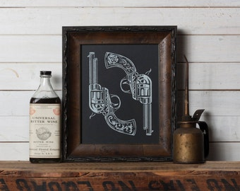 Dos Pistolas -  Screen Print - Limited