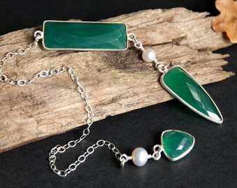 Green Onyx Pendulum. Sterling Silver Pendulum. Green Pendulum. Gemstone Pendulum. Divination Tool. Dowsing Pendulum. New Age Pendulum.