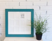 """14x14"""" School Days or Baby's First Year Frame with Mat for (12) 2.5 x 3.5"""" Wallet Size Photos - ACEO cards in Colors of Your Choice"""