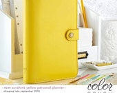 Webster's Pages Yellow Color Crush Personal Planner Kit 2017 Calendar • FREE Washi Tape • Webster's Pages Planner Kit Yellow