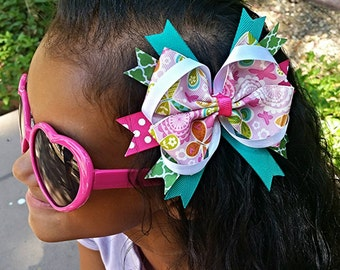 Butterfly Spring Girls Hair Bow