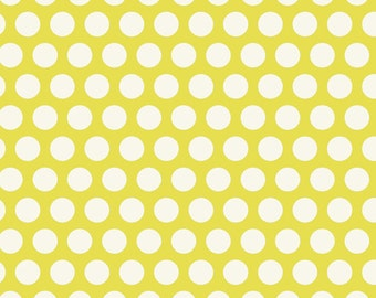 Nested Owls Aqua Mint Adorn It Fabric Collection Lime Green Chartreuse Grid Polka Dot Dots