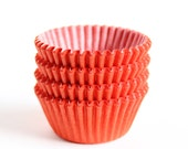 MINI Orange Cupcake Liners, Halloween Mini Baking Cups, Thanksgiving Candy Cups (100)