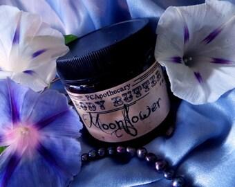 Moonflower (body butter--alyssum, frangipani, cassis)