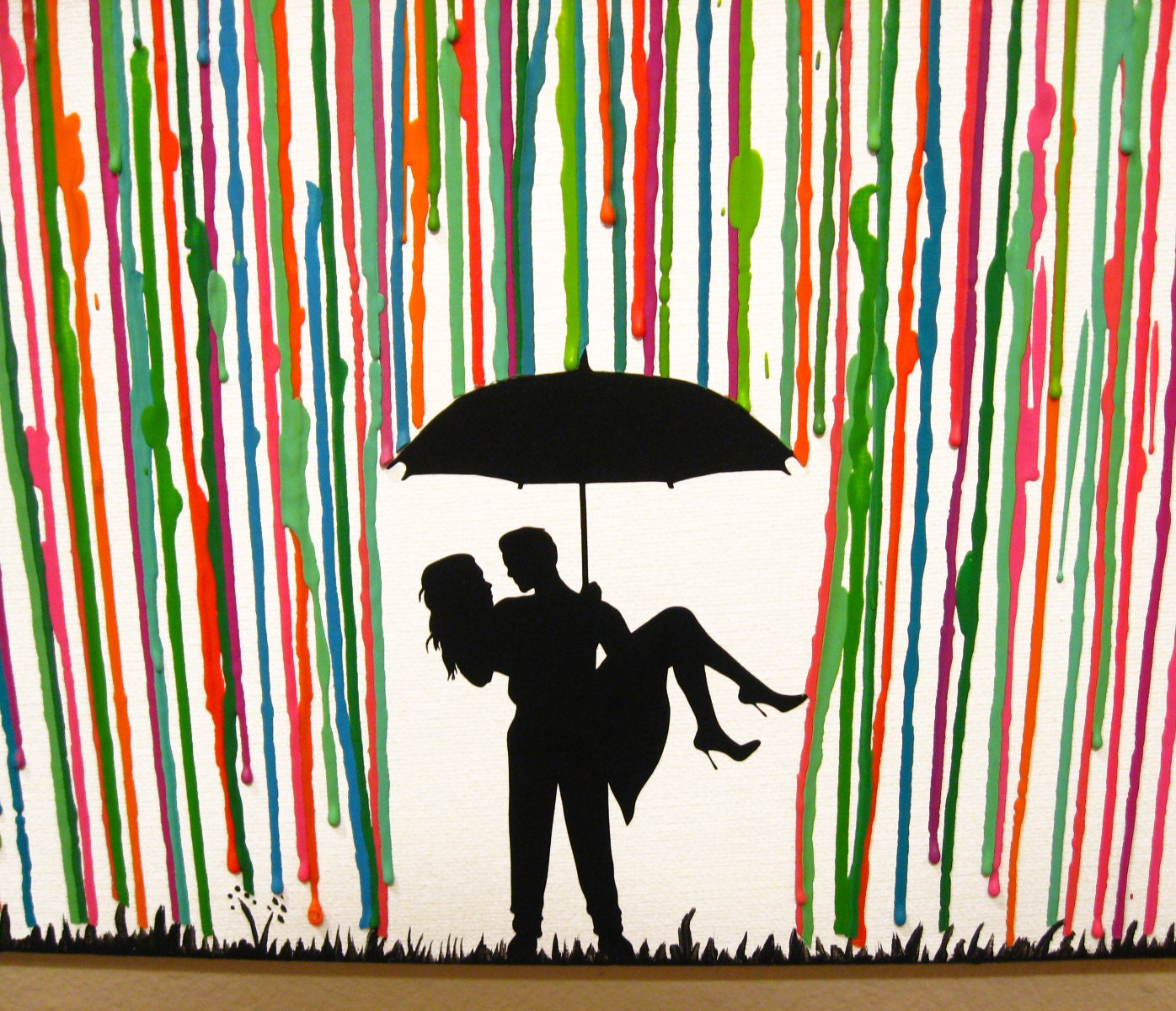 Wedding Gifts Personalized Wedding Gift Art Melted Crayon