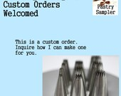 Custom Order for S.M. - Cake Decorating Supplies