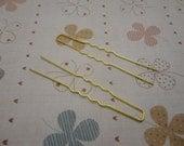 100pcs gold tone Metal Hair Pins 65mm