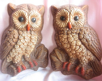 Vintage Owl Wall Plaques