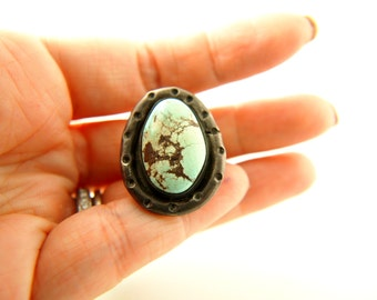 Native American Turquoise Ring - Sterling Silver - Vintage
