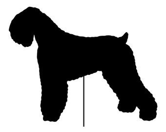 Black Russian Terrier Garden Stake or Wall Hanging / Pet Memorial / Rustic / Yard Art / Metal / American / Rusty / Metal / Outdoor