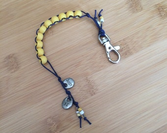 GO BLUE! Maize Yellow and Navy Blue - Golf Stroke Counting Beads - MAXI by TallyGators™