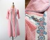 SALE Vintage Dress - Adorable Pink Flannel Dress