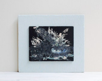 Small Vintage Abstract Art Painting