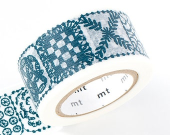 mt 2015 Japanese Washi Masking Tape - mina perhonen forest tile・blue for wcrapbooking, packaging, party deco