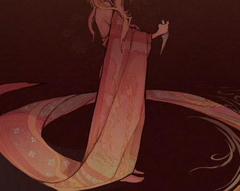 Rapunzel - A Fairy Tale Princess art print