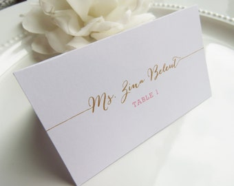 PRINTED Wedding Place Cards - Set of 50 - Style EC6 - Bombshell COLLECTION