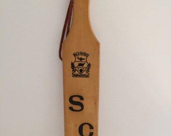 Vintage Stephens College Fraternity Paddle