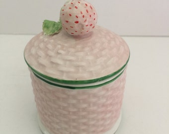 Vintage Handpainted Strawberry Pot