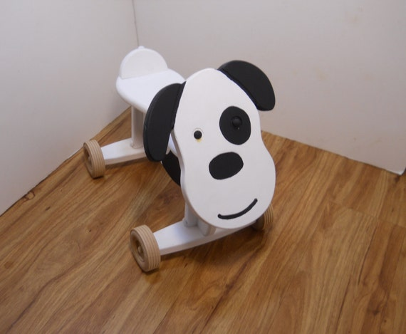 toddler ride on toy dog by smittysshop on etsy. Black Bedroom Furniture Sets. Home Design Ideas
