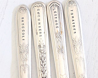 Silverware Vegetable Garden Markers, Eco Friendly Plant Markers - Ready to Ship