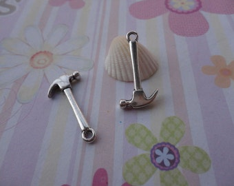 20pcs antique silver hammer findings 25mmx12mm