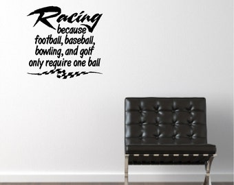 Racing Wall Quote Words Sayings Removable Car Racing Wall Decal Lettering