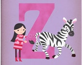 Z is for Zebra - Customizable 8x10 Alphabet Art Print