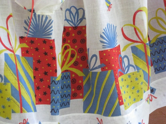 Birthday Apron Presents Hostess Serving Half Apron Vintage Gift Perfect Lightweight Sheer Fabric