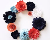 Paper flower centerpiece, table decor, large flower wall, cake table decor, wedding flowers, escort cards, paper flower wall,
