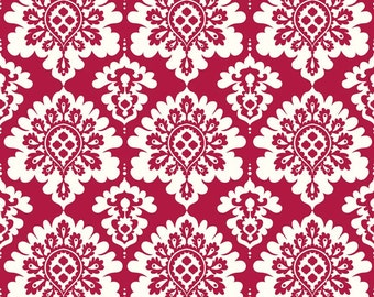 Valentines Damask Red by Riley Blake  - you pick the cut