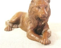 Lion Figure , Small Statue , Lion , King of the Jungle , Large Cat , Wild Animal , Paperweight , Jungle Animal , African Animal , Masculine