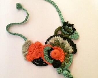 NECKBELT freeform crochet
