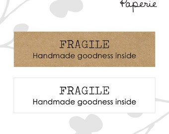 Super Simple FRAGILE stickers (20) - Etsy shop shipping supplies
