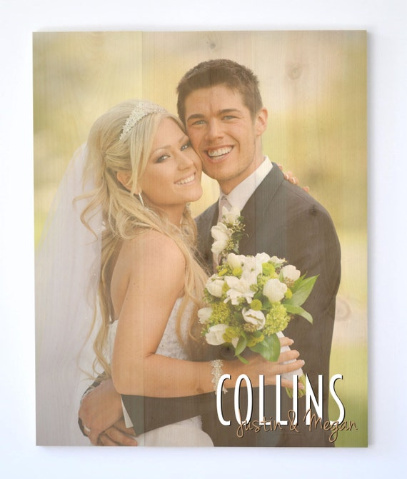 Personalized Pallet Wood Photo Sign 16x20
