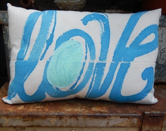 Decorative Accent Pillow, LOVE
