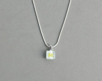 Yellow U of M Necklace