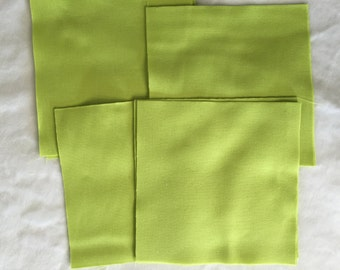 """Kona Solid """"Cactus"""" 5 Inch Quilt Squares, Sewing, Quilting Precut Fabric Squares, Robert Kaufman Die Cut Charm Pack, Green Quilt Fabric"""