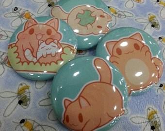 Fat Cat Button Set