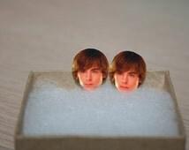 Zac Efron Post Stud Face Earrings Celebrity Jewelry