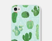 iPhone Cover - iPhone 6 Cover - Cactus Geometric iPhone 6 Case - Samsung Galaxy S5 Case - Galaxy S5 Phone Case Geometric iPhone 5 Case - Cco