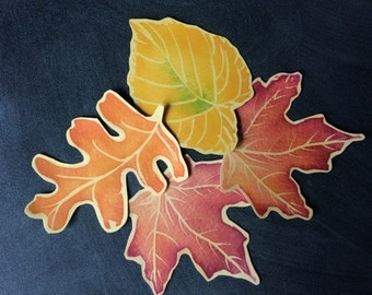 Fall Leaf Cut Outs - Place cards - escort cards, events, weddings, decorations. Holidays