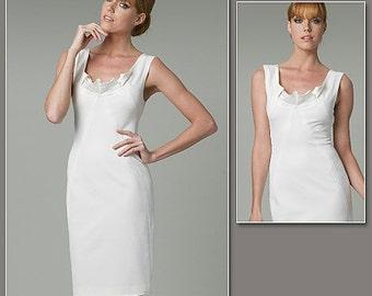 Sz 12/14/16/18 - Vogue Dress Pattern V1218 by DONNA KARAN - Misses' Fitted One-Piece Tank Dress - Vogue American Designer