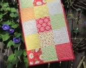 Pretty Quilted Summer Table Runner