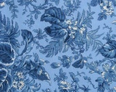 Blue Floral Placemats  - Reversible Placemats - Heat Resistant Placemats - Set of Four