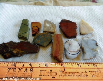 Small 1 Cab Lapidary Slabs And Small Random Cuts #27