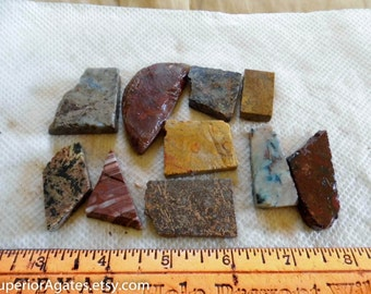 Small 1 Cab Lapidary Slabs And Small Random Cuts #28